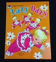1973 Original Vintage Lazy Dazy Mattel Paper Doll Book Uncut - $16.79