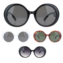 Womens Round Circle Mod Fashion Thick Plastic Wizard Sunglasses - $13.32 CAD