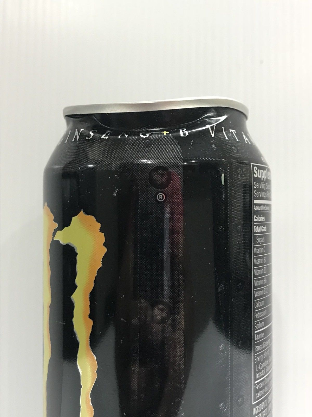 Monster Energy Drink M-80 M80 Full Collectors Can. Slightly Dented Near Rim
