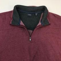 Arrow Jacket Men 2XL XXL Maroon 1/3 Zip Collared Cotton Blend Insulated ... - $19.99