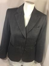 Loft Women Brown Striped Blazer Casual Style Size 4 Two Button Uo Bin55#4 - $15.88