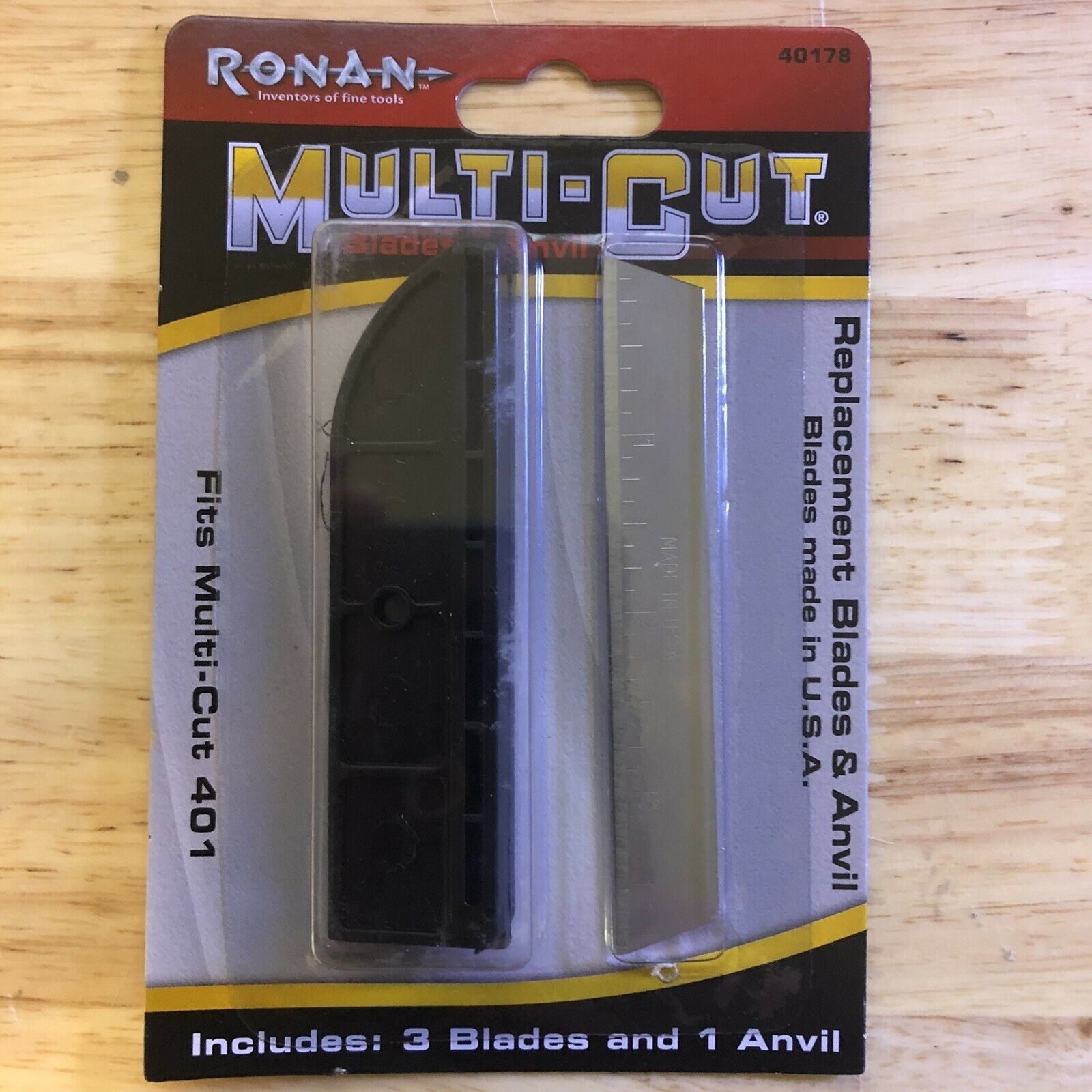 Primary image for Ronan Craftsman 4 Inch Multi-Cut Handi-Cut Replacement Anvil & Blades Case of 12