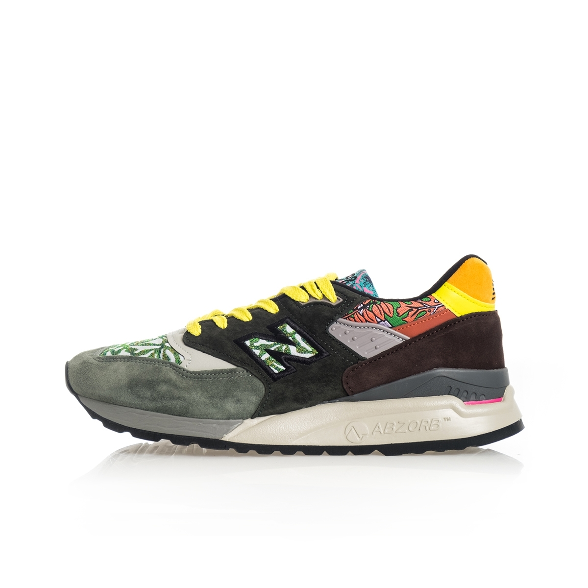 SNEAKERS UOMO NEW BALANCE LIFESTYLE 998 M998AWK MADE IN USA GREEN