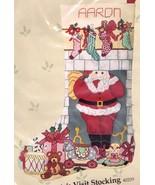Vtg Candamar Santas Visit Fireplace Toys Crewel Needlepoint Stocking Kit... - $268.95