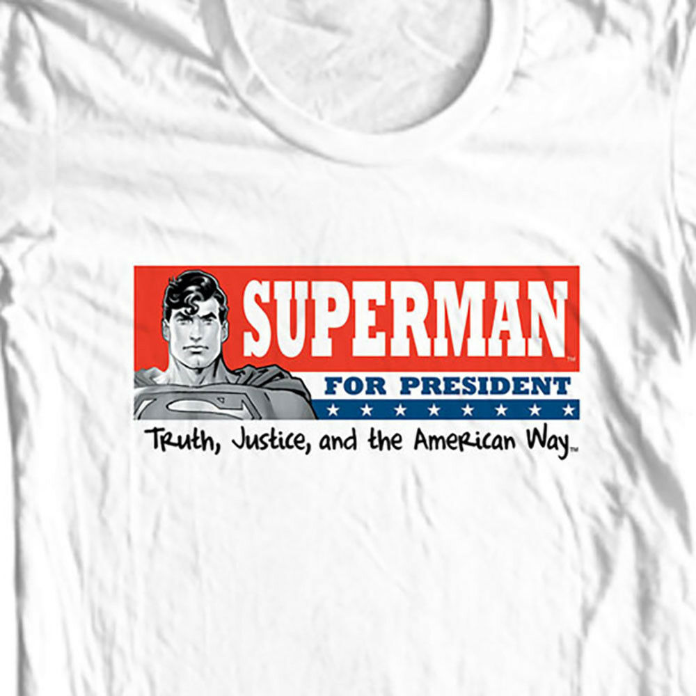 Superman For President T-shirt DC comic justice league man of steel tee SM1604