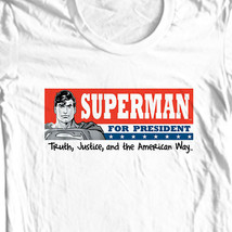 Superman For President T-shirt DC comic justice league man of steel tee SM1604 image 1