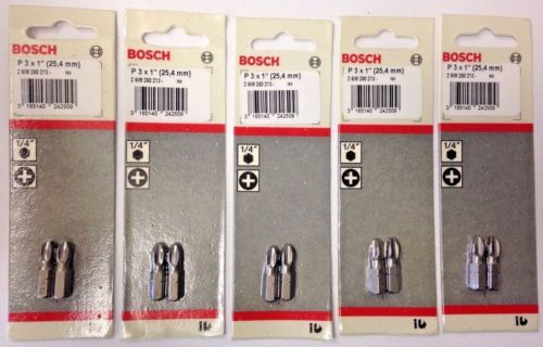 "Primary image for Bosch 2609260213 #3 x 1"" Phillips Screw Tips USA (5) 2 Packs"