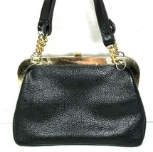 Saber True Vintage Small Black Pebbled Leather Handbag - $44.61