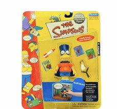 The Simpsons action figure toy Playmates vtg World Springfield Bartman B... - $28.82