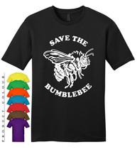 Save The Bumblebee Mens Gildan T-Shirt New - €15,91 EUR