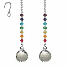 AyFashion 1.19 inch (30mm) 2pcs Crystal Prism Ball Hanging Pendant Rainbow Maker