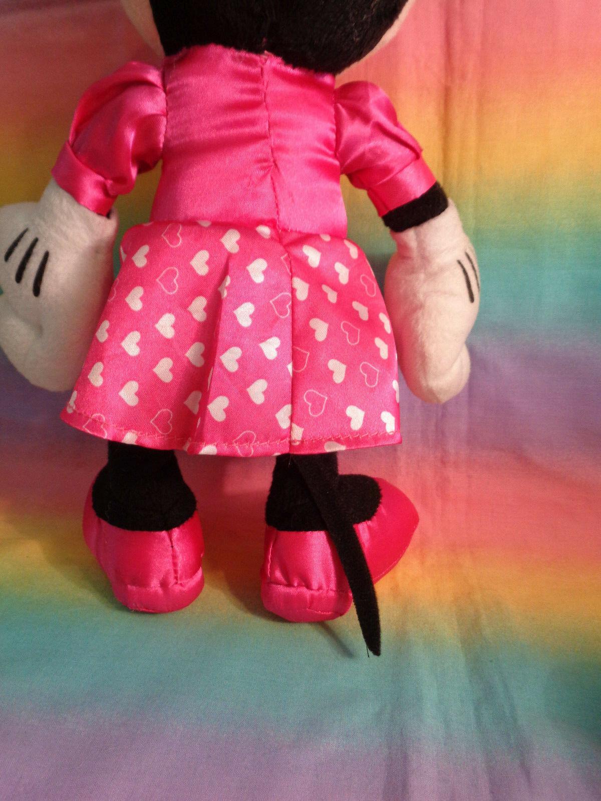 "Disney Kcare Kiu Hung Industries Minnie Mouse Pink Dress Plush Doll 13"" image 6"