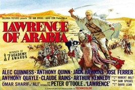 LAWRENCE OF ARABIA movie poster PETER O'TOOLE 7 ACADEMY AWARDS epic 24X36 - $18.00