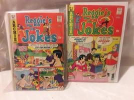 Archie Comic Books Gift Set, Reggie's Wise Guy Jokes, Number 33 & 35, 1975 - $1.99