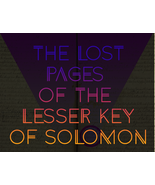 Lost Pages of The Lesser Key Of Solomon Spells: Direct Portal to Hell!! ... - $2,500,000.00