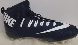 New Nike 918346-414 Men's Force Savage Football High Top Cleats Size 16 Navy - $24.74