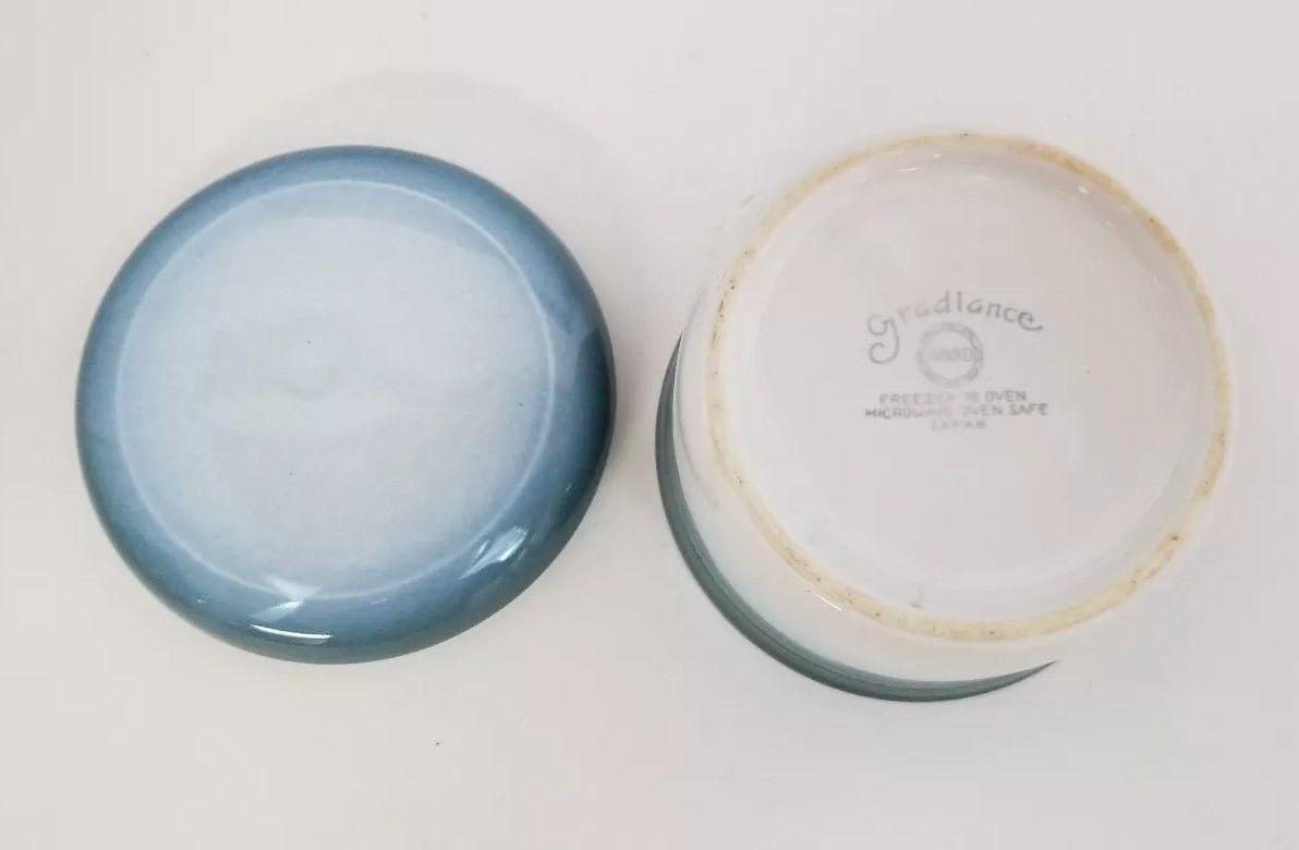 Nikko Gradiance Creamer and Sugar Bowl Azure Leafette Dishwasher Microwave Safe image 8