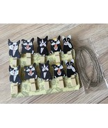 60pcs Lovely Dog Clips,Mini Clip,Paper Clip,Pin Clothespin,Wood Pegs,Tag... - $11.50