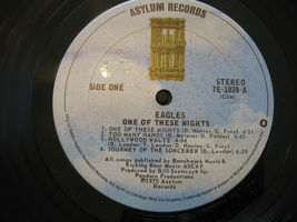 Eagles One Of These Nights Asylum 7E-1039 Stereo Vinyl Record Textured Cover image 6
