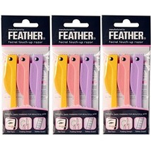 Feather Flamingo Facial Touch-up Razor  3 Razors X 3 Pack image 1