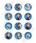Frozen edible party cupcake toppers decoration frosting toppers 12/sheet - $7.80