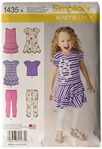 Simplicity 1435 Girls Knit Dresses, Top and Capri Leggings - Knits Only Size: A  - $13.48