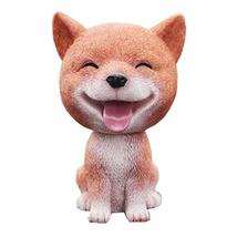 PANDA SUPERSTORE [Smile Shiba] Good Luck Bobbleheads Car Ornaments Resin Car Dec