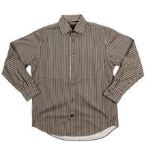 Banana Republic Men S Long Sleeve Button Front Striped Dress Shirt Career Casual - $21.45