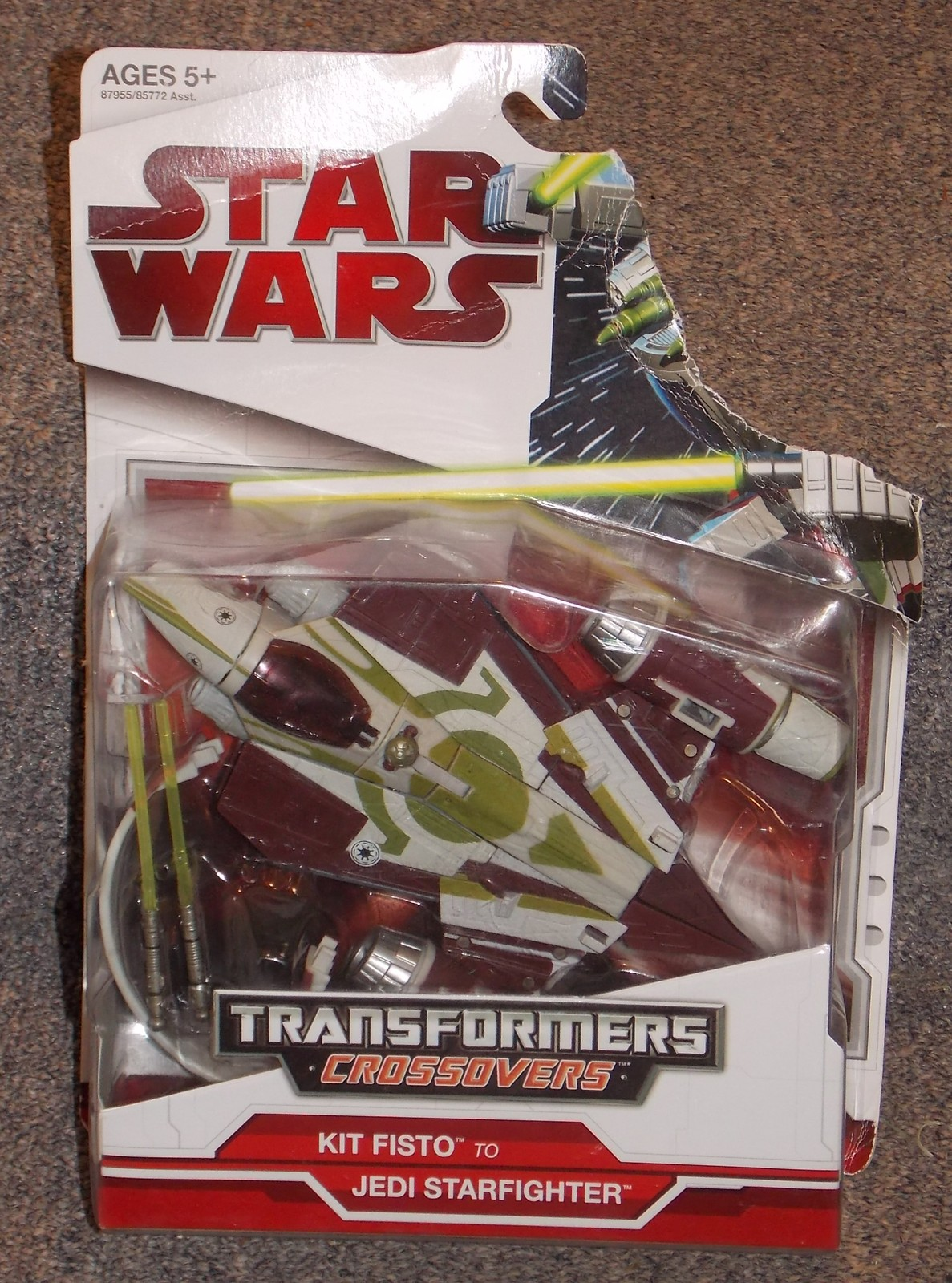 Primary image for 2009 Star Wars Transformers Crossovers Kit Fisto to Jedi Starfighter Figure NIP