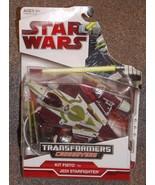 2009 Star Wars Transformers Crossovers Kit Fisto to Jedi Starfighter Fig... - $41.99