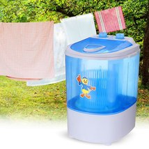 Mini Washing Machine Semi-automatic Single-barrel Washer Prevent Winding... - $204.99+