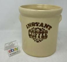 """Pfaltzgraff USA """"Village"""" Instant Coffee Crock / Jar - No Lid, 4 1/2"""" Tall 7-497 - $8.99"""