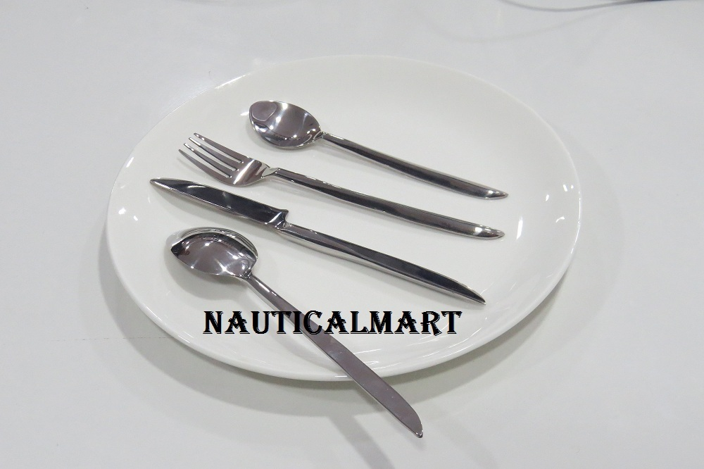 Primary image for Al-Nurayn Stainless Steel Flatware Silverware Cutlery Set Of 2 By NauticalMart