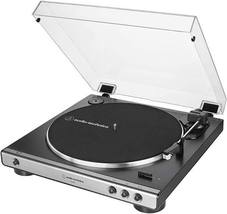 Audio Technica AT LP 60X Gunmetal Turntable Fully Automatic Stereo Record Player image 2