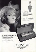 Perfume Lovely 1962 Vintage French Ad Ecusson Jean D'Albret Bottle Packa... - $14.99