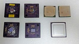 Lot of 7 AMD CPUs processors - $35.00