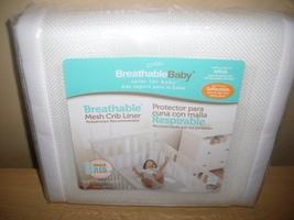 White Breathable Baby Mesh Crib Liner - $20.00