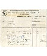 1923 NEWARK BRUSH & SCRAPER CO NJ Antique Letterhead Billhead Receipt dog - $6.99