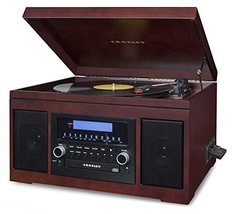 Crosley CR2415A-MA Cannon Turntable with Radio, CD Player, Cassette and Aux-In,  - $155.19