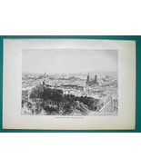 MEXICO Vera Cruz & Fort of St. John d'Ulua - 1891 Antique Print Engraving - $21.60