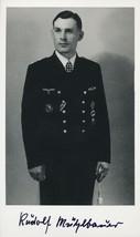 Rudolf Muhlbauer signed photo. U-123 KC Winner - $35.00
