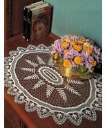 2X Oval Mat & Tiny Basket Crochet DOILY Patterns - $6.50