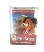 Shrek the Halls DVD and TY Beanie Babies Puss In Boots Christmas Gift Se... - $29.69