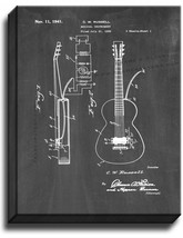 Musical Instrument Patent Print Chalkboard on Canvas - $39.95+
