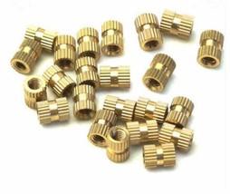 100PCS M3*3*4mm OD 4mm Brass Inserts Double Pass Copper Knurl Nut Embedd... - $11.95