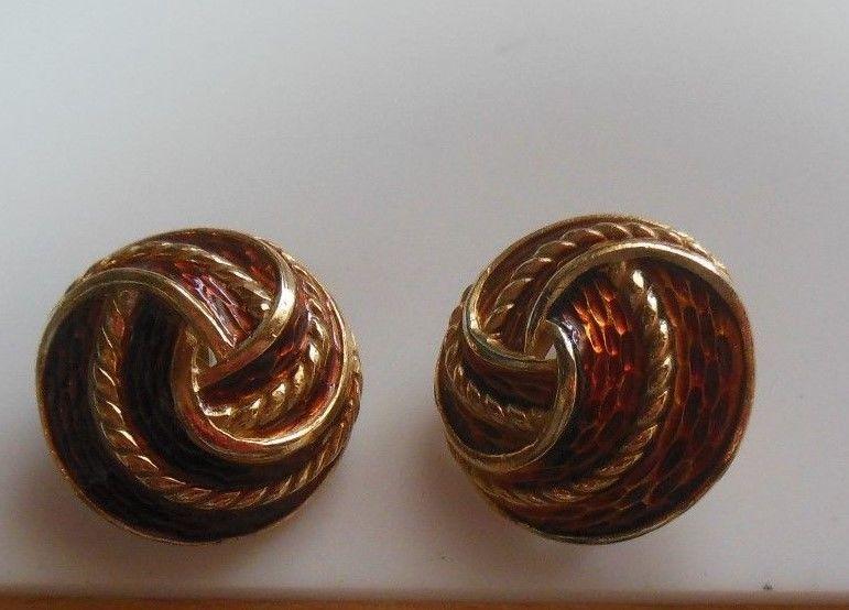 eae22097a Vintage Crown Trifari Gold-tone Enamel Swirl and 50 similar items