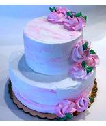 Dezicakes Fake Wedding Cake Two Tier Pink White Baby Shower Cake unedibl... - €39,82 EUR