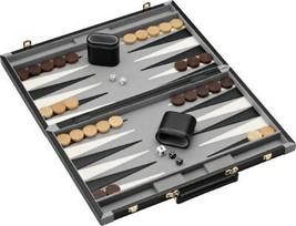 "19"" Classic Leatherette Pennsylvania Ave Backgammon Board Game Set, Velv... - $73.25"