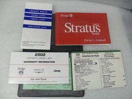 Dodge Stratus 2002 Owners Manual 16702 - $13.81