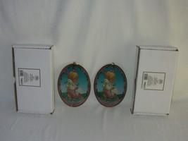 2 Precious Moments Girl w Goose Artcatcher Hanging Ornament 154679 Suncatcher - $29.69